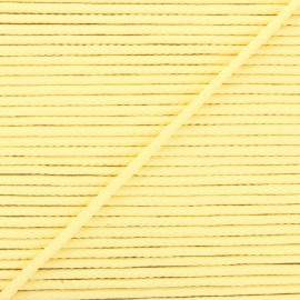 4mm Knit cord - light yellow Chroma x 1m
