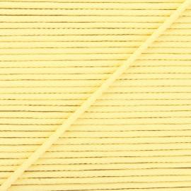 Cordon tricoté Chroma 4 mm - jaune pâle x 1m
