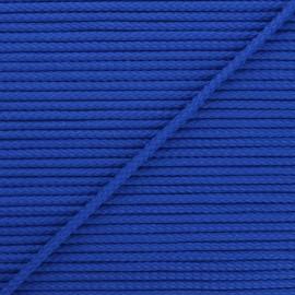 Cordon tricoté Chroma 4 mm - bleu roi x 1m