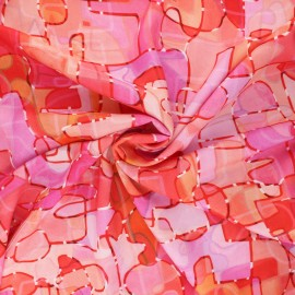 Tissu rayonne Dashwood studio Circle line - Paint - rose x 10cm