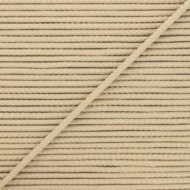 Cordon tricoté Chroma 4 mm - sable x 1m