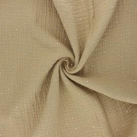 Double gauze fabric - sand Galaxie argentée x 10cm