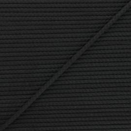 Cordon tricoté Chroma 4 mm - noir x 1m
