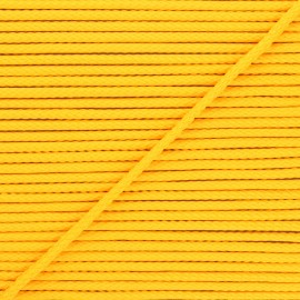 Cordon tricoté Chroma 4 mm - jaune soleil x 1m