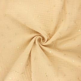 Double gauze fabric - yellow straw Pissenlit doré x 10cm
