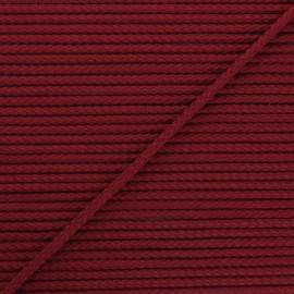 Cordon tricoté Chroma 4 mm - bordeaux x 1m