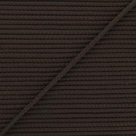 Cordon tricoté Chroma 4 mm - chocolat x 1m