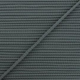 Cordon tricoté Chroma 4 mm - gris foncé x 1m