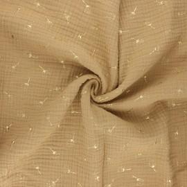 Double gauze fabric - sand Pissenlit doré x 10cm
