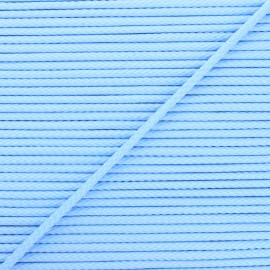 Cordon tricoté Chroma 4 mm - bleu layette x 1m