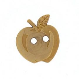 Bouton bois gravé Pomme