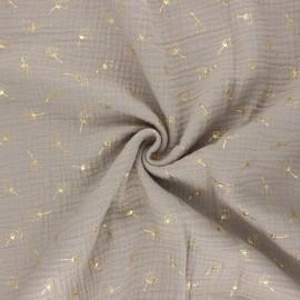 Double gauze fabric - grege Pissenlit doré x 10cm