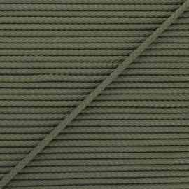 Cordon tricoté Chroma 4 mm - vert kaki x 1m