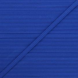 5 mm flat elastic - roy blue x 1m