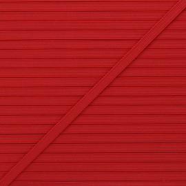 Elastique plat Colores 5 mm - rouge x 1m