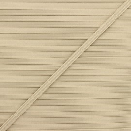 5 mm flat elastic - sand x 1m
