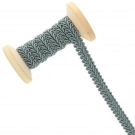 9 mm Gimp braid Roll - Green Grey