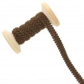 Galon Épi de blé 9 mm - bronze - Bobine de 25 m