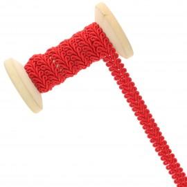 Galon Épi de blé 9 mm - rouge vif - Bobine de 25 m