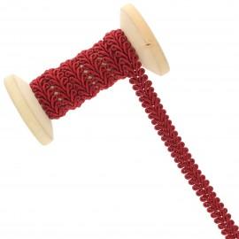 Galon Épi de blé 9 mm - rouge grenat - Bobine de 25 m