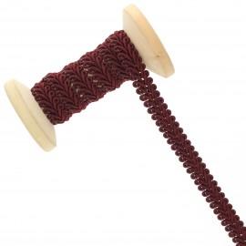9 mm Gimp braid Roll - Burgundy