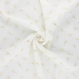 Double gauze fabric - raw Pissenlit doré x 10cm