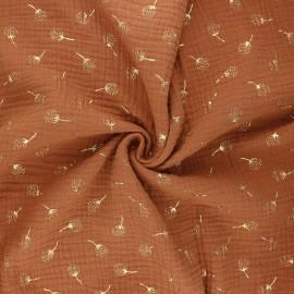 Double gauze fabric - camel Pissenlit doré x 10cm
