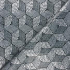 Tissu toile cirée Geometrik - gris x 10cm