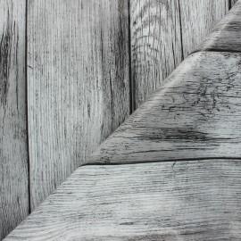 Oilcloth fabric - grey Wood x 10cm