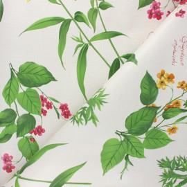 Oilcloth fabric - raw Floralia x 10cm