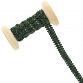 Galon Épi de blé 9 mm - vert loden - Bobine de 25 m