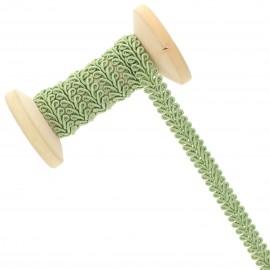 Galon Épi de blé 9 mm - vert sauge - Bobine de 25 m
