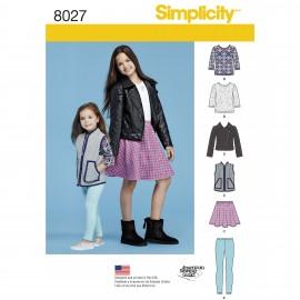 Patron ensemble Enfant - Simplicity n°8027