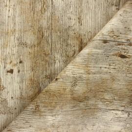 Oilcloth fabric - beige Parquet x 10cm