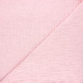 Plain bamboo double gauze fabric - baby pink x 10cm