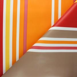 Oilcloth fabric - orange Mimizan x 10cm