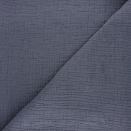 Plain bamboo double gauze fabric - mouse grey x 10cm