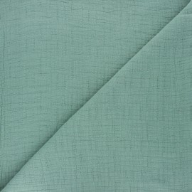 Plain bamboo double gauze fabric - sage green x 10cm