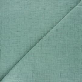 Tissu double gaze bambou uni - vert sauge x 10cm