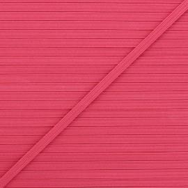 5 mm flat elastic - raspberry x 1m