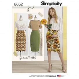 Patron Jupe crayon Femme - Simplicity n°8652