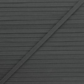 5 mm flat elastic - dark grey Colores x 1m