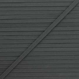 Elastique plat Colores 5 mm - gris foncé x 1m