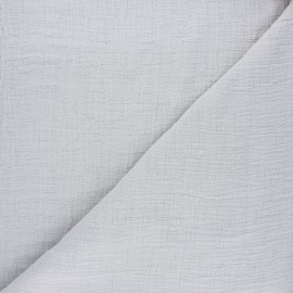 Plain bamboo double gauze fabric - light grey x 10cm