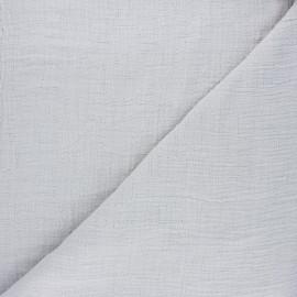 Tissu double gaze bambou uni - gris clair x 10cm