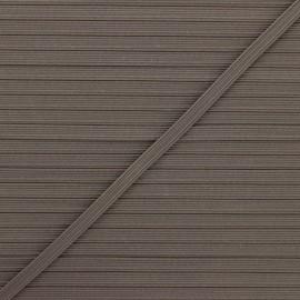 Elastique plat Colores 5 mm - châtaigne x 1m