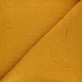 Plain bamboo double gauze fabric - honey x 10cm