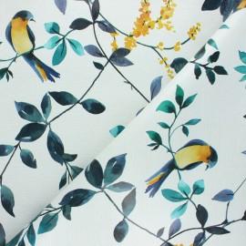 Oilcloth fabric - raw Mésange x 10cm