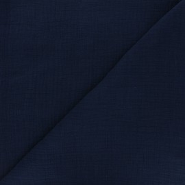Plain bamboo double gauze fabric - night blue x 10cm