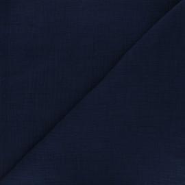 Tissu double gaze bambou uni - bleu nuit x 10cm